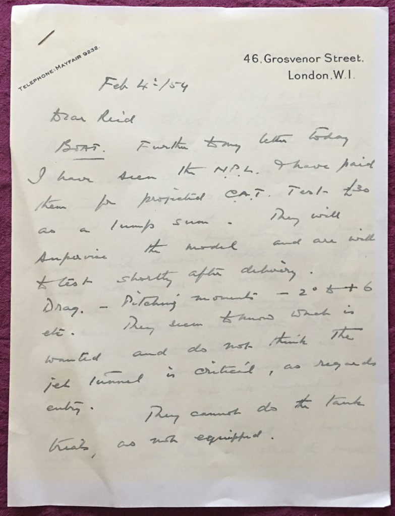 part of the correspondence between George Eyston and Reid Railton