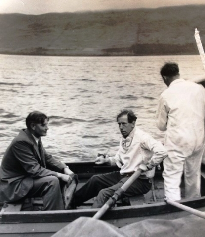 Lofty with Peter Du Cane at Loch Ness